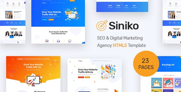 HTML Website Templates from ThemeForest on
