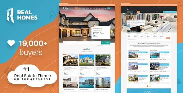 2019's Best Selling Real Estate WordPress Themes