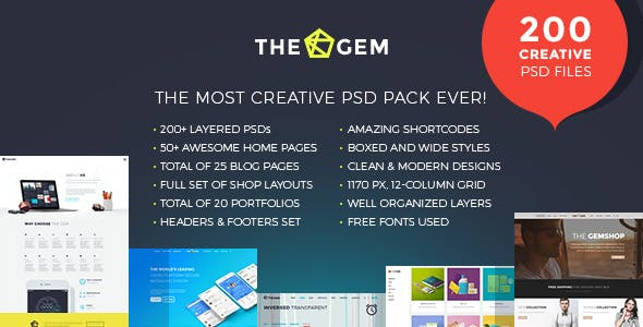 PSD Files and Photoshop Templates from ThemeForest