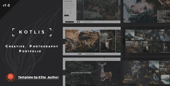 2019's Best Selling HTML Photography Website Templates