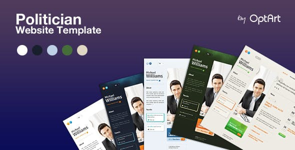 Personal Political PSD Templates From ThemeForest - Political website templates