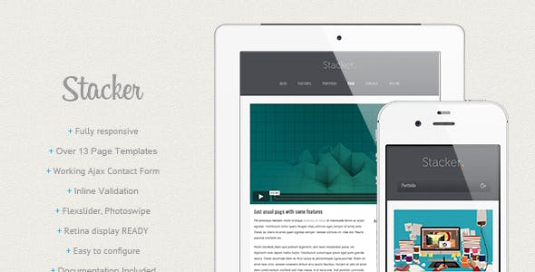 Stacker Responsive Html5 Css3 Mobile Template
