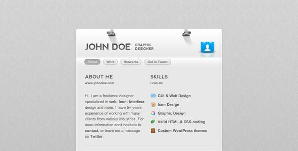 Business card website templates from themeforest dotme business card theme dotme business card theme reheart Image collections