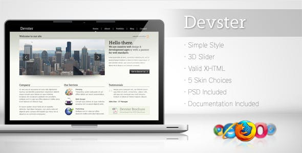 Simple business website templates from themeforest devster simple business template wajeb Images