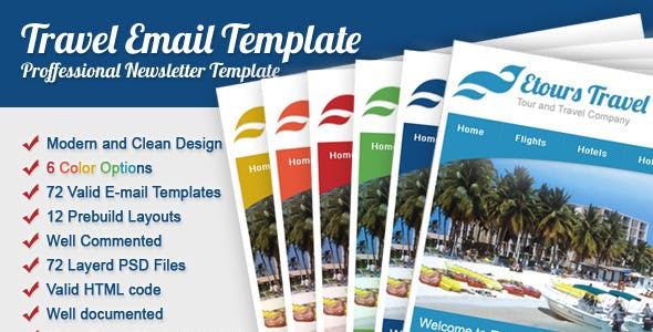 travel newsletter templates from themeforest