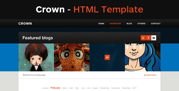 pixel art character website templates from themeforest