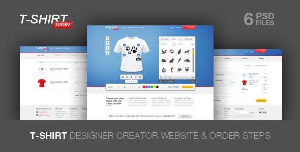 Tshirt Designer Website Templates From ThemeForest - T shirt design website template