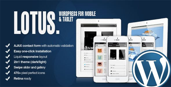 Lotus - Mobile and Tablet | WordPress & Retina nulled theme download