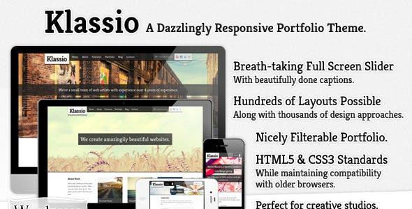 Responsive wordpress business website templates from themeforest klassio responsive wordpress business portfolio friedricerecipe Choice Image