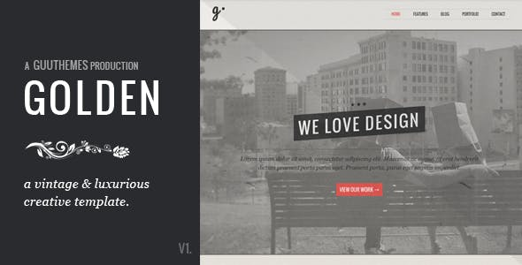 Vintage Typography Website Templates from ThemeForest
