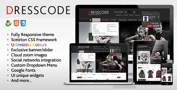 Dresscode - Responsive  osCommerce Theme nulled theme download