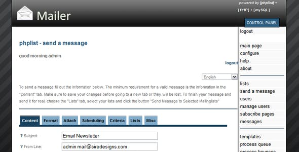 Phpmailer Templates from ThemeForest