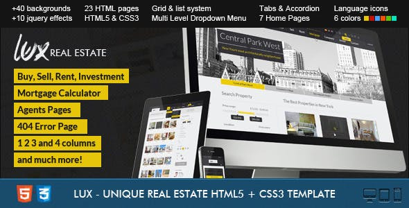 Property Management HTML Website Templates from ThemeForest