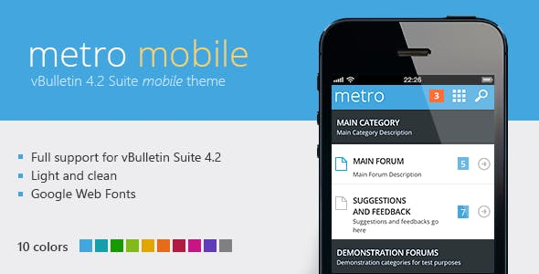 Metro Mobile - A Mobile Theme for vBulletin 4.2 nulled theme download