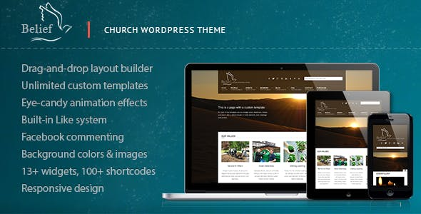 21+ Church WordPress Themes & Templates 2019 [ Download Now ]