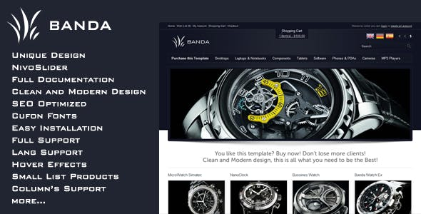 Banda - Modern Shop for osCommerce nulled theme download