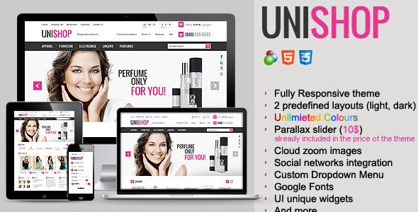 Unishop - Responsive osCommerce Theme nulled theme download