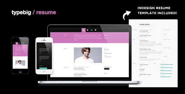 InDesign Website Templates from ThemeForest