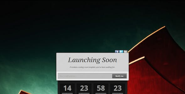 Launching Soon Website Templates from ThemeForest