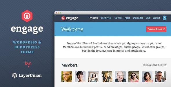 Engage - WordPress, BuddyPress, bbPress Theme nulled theme download