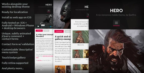 HERO: A No-Nonsense Mobile WordPressTheme nulled theme download
