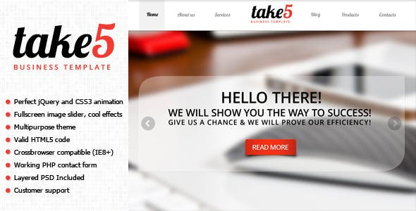 take5 is a premium multipurpose template tags jquery animation
