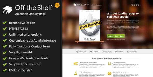 Book Landing Page Website Templates From ThemeForest