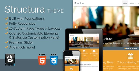 Structura Responsive Multi-Purpose Concrete5 Theme nulled theme download