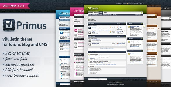 Primus - A Theme for vBulletin 4.2 Suite nulled theme download
