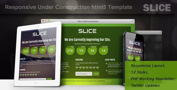 SLICE-Responsive Under Construction Template
