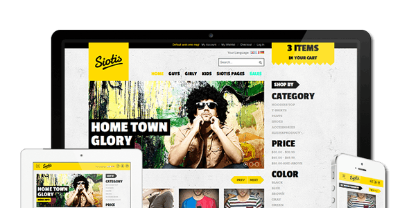 Fashion Hip Hop Website Templates from ThemeForest