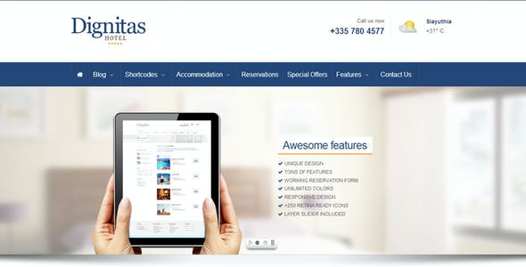 hotel banner ad website templates from themeforest