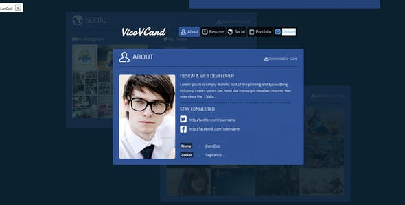 3D Personal HTML Website Templates from ThemeForest