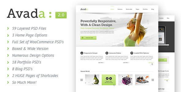 Avada Website Templates from ThemeForest