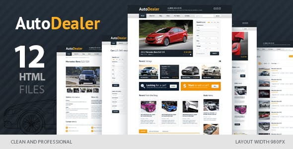 Auto Dealer Website Templates From ThemeForest - Car dealer website template