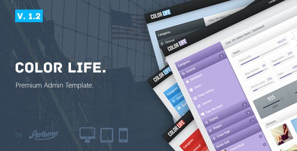 Colourful HTML Admin Website Templates from ThemeForest