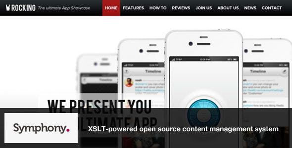 Rocking Parallax iPhone App Showcase Symphony nulled theme download