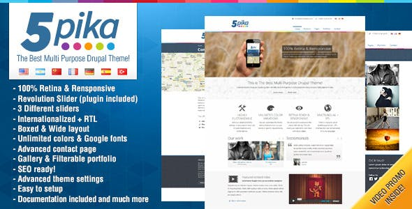 Multilingual Website Template Compatible With Drupal Commerce