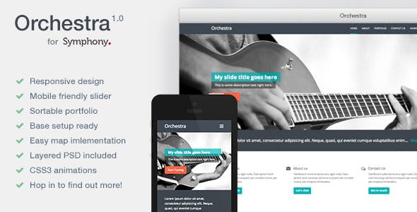 Orchestra - Resposive Symphony CMS Theme  nulled theme download