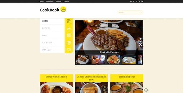cookbook template website templates from themeforest