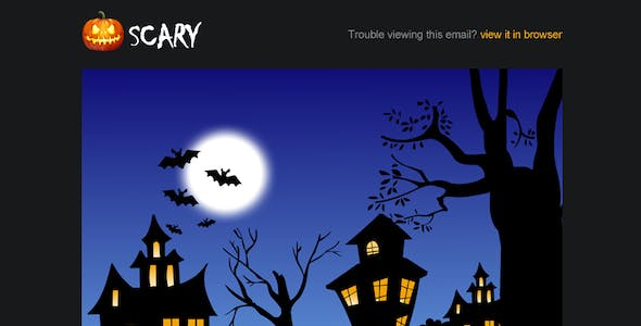 Scary website templates from themeforest scary halloween email campaign template scary halloween email campaign template maxwellsz