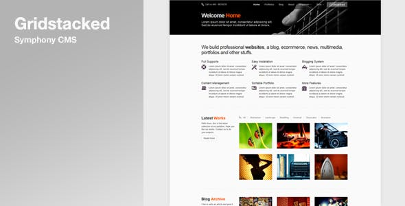 Gridstacked - Symphony CMS Ensemble nulled theme download