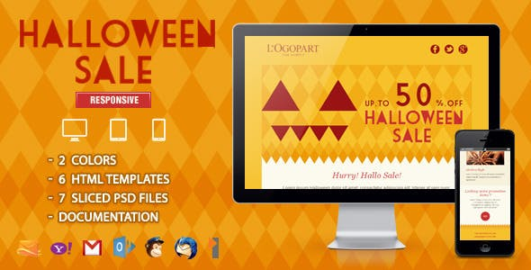 halloween sale website template from themeforest