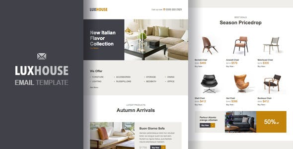Furniture Email Templates From Themeforest