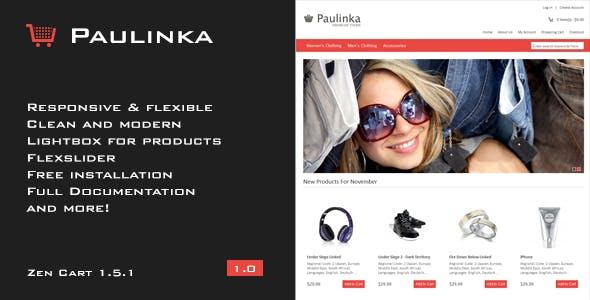 Paulinka - Elegant & Responsive Zen Cart Theme nulled theme download