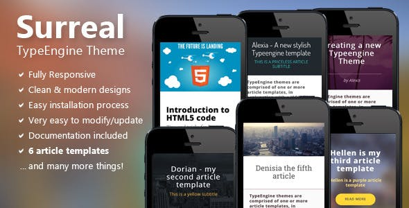 Surreal - Responsive TypeEngine Theme nulled theme download