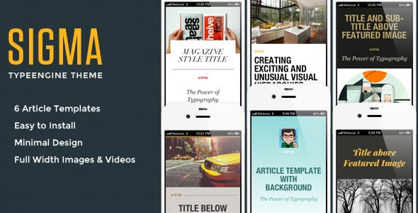 Sigma TypeEngine Theme nulled theme download