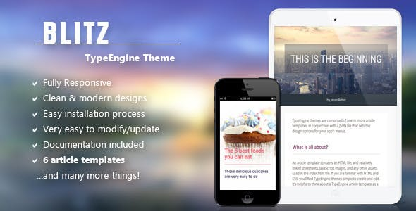 Blitz - Responsive TypeEngine Theme nulled theme download