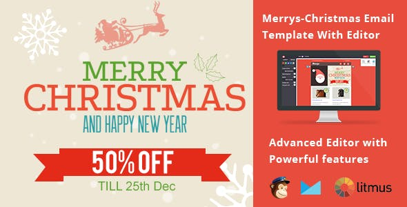 Merry christmas website templates from themeforest merrys christmas email template with editor maxwellsz