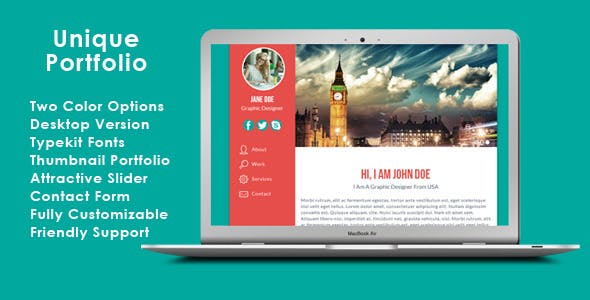 Personal Website Template Templates from ThemeForest
